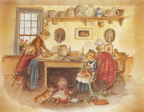 Tasha Tudor ,Baking Sugar Cookies