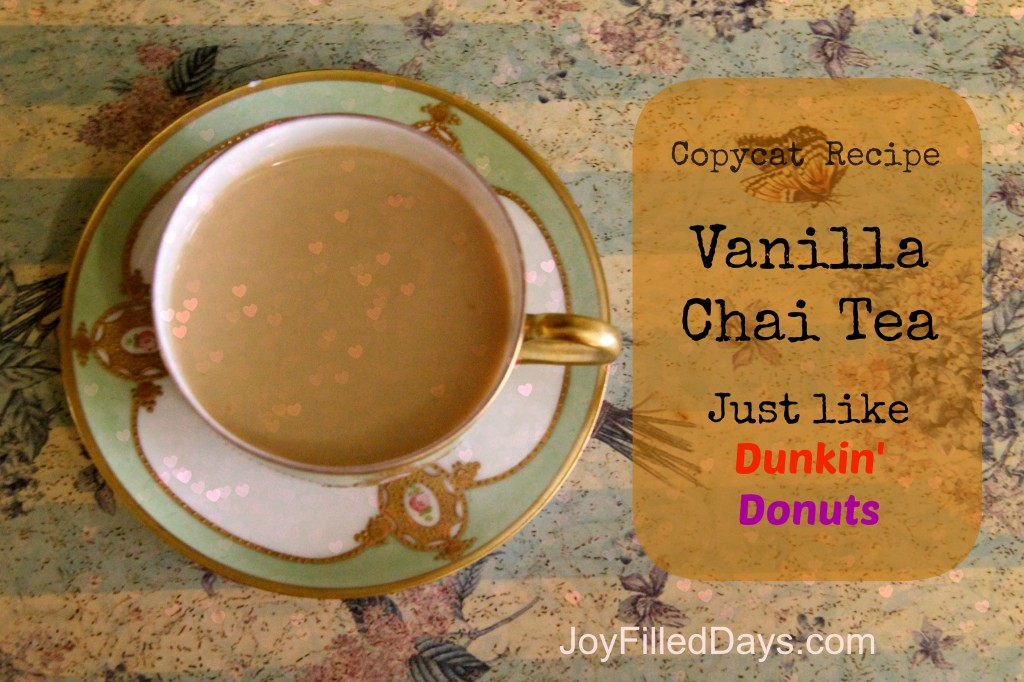vanilla chai copycat dunkin donuts