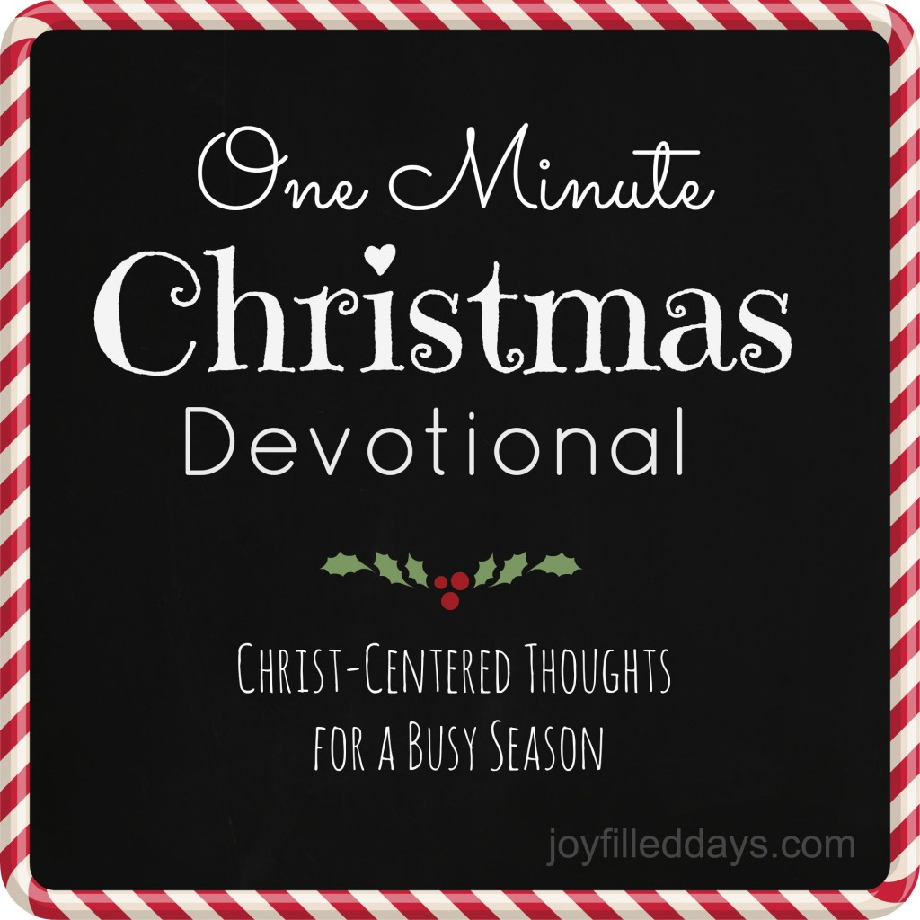 one minute devo