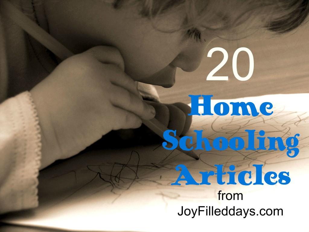 20 Homeschooling Articles