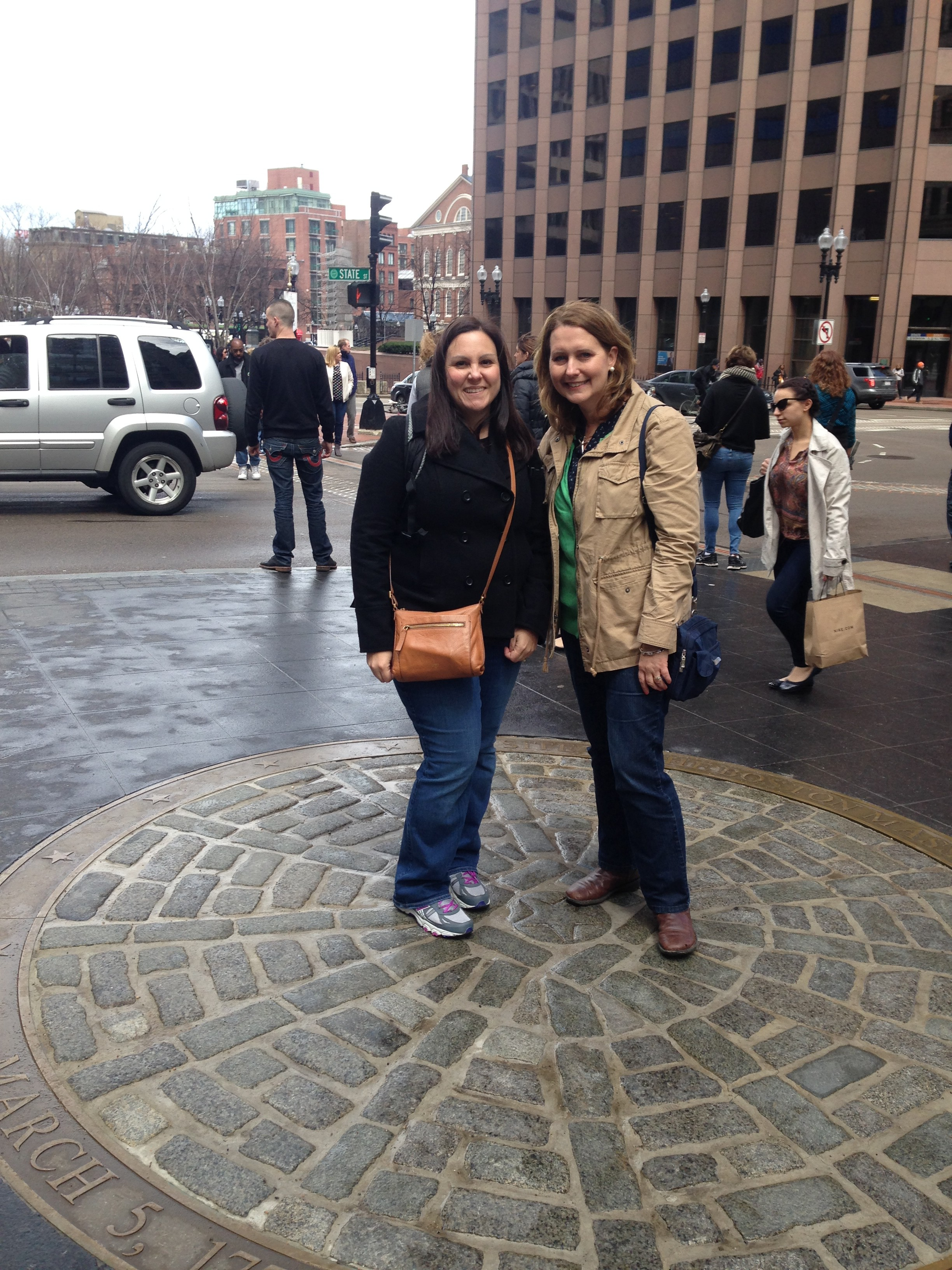 On the site of the Boston Massacre